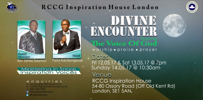DIVINE ENCOUNTER MAY 2017